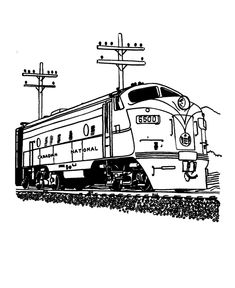 Trains And Railroads Coloring Pages Railroad Train Coloring