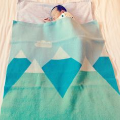 So sweet :) mountainscape baby blanket