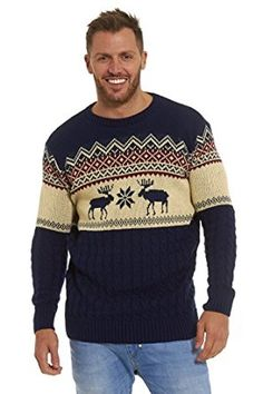 Christmas Xmas Jumper Sweater Mens Ladies Unisex Fairisle Reindeer Classic Retro Vintage Novelty