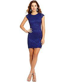 7ceb6be9fbc Jump Cap Sleeve Scalloped Lace Sheath Dress  Dillards Dillards Homecoming  Dresses