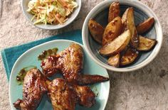 Chicken wings, wedges and 'slaw recipe - goodtoknow