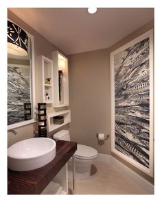 The Tile Installation Design Residential Award recognized artistic mosaic tile design exquisitely creating a mural of barracudas in an ocean front condominium powder room in South Florida. Glass Tile Bathroom, Tiled Bathrooms, Mosaic Artwork, Mosaic Wall, Mosaic Tile Designs, Kitchen And Bath Remodeling, Interior Design Awards, Tile Installation, Design Firms