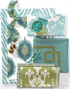 Fabric Frenzie Mixing Patterns 2019 calico corners turquoise and green The post Fabric Frenzie Mixing Patterns 2019 appeared first on Fabric Diy. Bird Patterns, Fabric Patterns, Calico Corners, Fabric Board, Fabric Combinations, Passementerie, Pattern Mixing, Mixing Patterns Decor, Outdoor Fabric