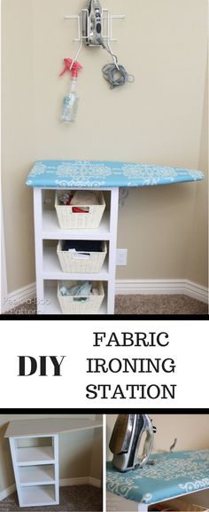 DIY Fabric Ironing Station. Find this and hundreds of other FREE sewing Tips and Tutorials at www.peekaboopages.com.