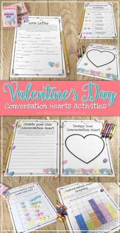 Fun math and language arts with candy hearts! These candy heart math and ELA activities include fractions, probability, sorting, parts of speech, writing, and art- all using conversation hearts. Perfect for all of February or for your Valentine's day party!