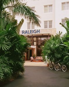 The Raleigh Hotel is a throwback to old Miami—a 1941 Deco landmark on lively Collins Ave.