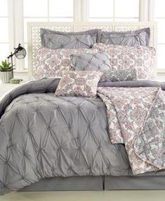 Jasmine Grey 10-Pc. Comforter Sets