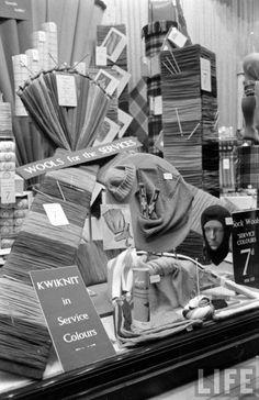Shop window, London, 1939