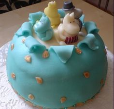Amazing Moomin cakes - inspiration for my daughter's second birthday! Tove Jansson, Birthday Cakes, Birthday Ideas, Gorgeous Cakes, Decorated Cakes, Dahl, Pinwheels, No Bake Cake, Shower Ideas