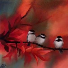 """Autumn Lineup"" - by ~ces~ Christine E. S. Code.... ~Acrylic on stretched canvas"