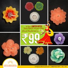 Hurry Up !!! Navratri Special - Candle Mould Discount offer 13 - 22 Oct 2015  Call Us: 08879651091 / 92 / 93 Visit Us: www.candlemould.com