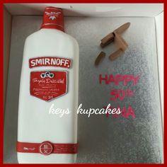 Smirnoff cake with broken chair