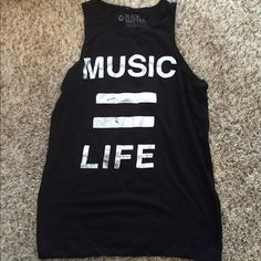 Hot Topic Music Tank Medium Medium, never worn. I purchased it but forgot about it and am just cleaning out my stuff! Hot Topic Tops Tank Tops