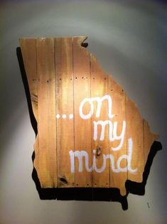 Wooden State of Georgia On My Mind by CampgroundProduction on Etsy