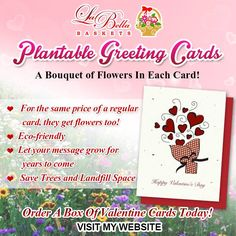 You can do your part and be eco-friendly and support my New Product! Plantable Greeting Cards for all occasions. Pick flowers, herb or vegetables.  Visit my website for more info www.thegifts.labellabaskets.com