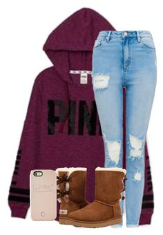 """""""Untitled #2370"""" by laurenatria11 ❤ liked on Polyvore featuring Victoria's Secret, UGG and LuMee"""