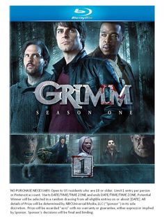 GIVEAWAY TIME! Enter to win a #Grimm Season 1 on Blu-ray or DVD when you RE-PIN this pin with hashtag #GrimmReturnsAug13!