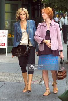 Sarah Jessica Parker and Cynthia Nixon at the Manhattan in New York City, New York