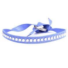 Bracelet Swarovski des Interchangeables de la collection Full Strass ronde de couleur bleu.