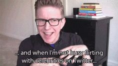 When you're at a job interview and they ask what you like to do in your spare time. | Community Post: 19 Tyler Oakley GIF Reactions For Everyday Situations