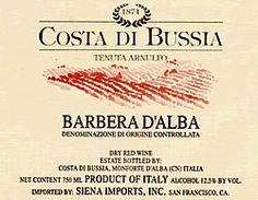 Costa di Bussia Barbera d'Alba 2010 vintage - especially good after a night open. Available at Fresh & Green.