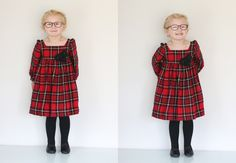 plaid christmas dress // amos el