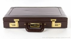 BRANDELL QUALITY LEATHER GOODS DARK BROWN BRIEFCASE W/ COMBO LOCK #BrandellQualityLeatherGoods #BriefcaseAttache
