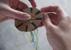 "friendship bracelet made with ""loom"" from http://www.writeclickscrapbook.com"