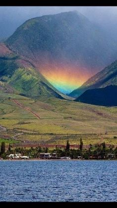 """tbt: An """"Uakoko"""" or """"low lying rainbow"""" Maui island. Rainbow Sky, Love Rainbow, Over The Rainbow, Rainbow Colors, Rainbow Island, Nature Pictures, Cool Pictures, Beautiful Pictures, All Nature"""