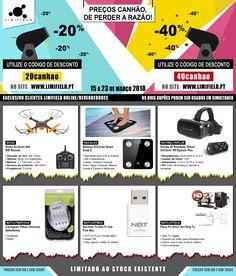 Preços canhão de perder a razão !!! De 13 a 23 de Março usufrua dos cupões de desconto que temos para lhe oferecer :) Apenas para clientes online|revendedores. Consulte em www.limifield.pt