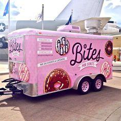 Bites Mini Donuts food truck trailer located in Denver, CO. Instagram - @BitesDonutsCO Twitter - @BitesDonutsCO Facebook - Bites Donuts CO