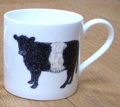 Belted Galloway Cow Mug - large balmoral style