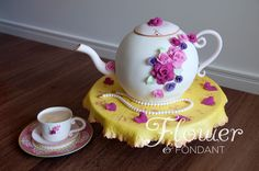 - Tea set, roses and pearls what could be sweeter for a little girls birthday.
