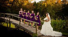 Purple bridesmaid dresses are so regal. // Jeanne Mitchum Photography