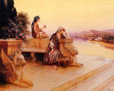 Rudolf Ernst Elegant arab ladies