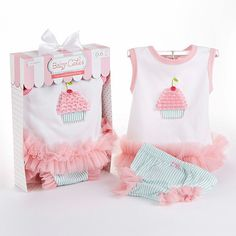 """""""Baby Cakes"""" 2-Piece Cupcake Outfit"""