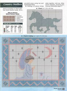 ANGEL & LAMB - WALL HANGING 2/2 -- COUNTRY MAILBOX PATTERN CAN BE FOUND ON MY BOARD Cowboys/Western/Farming PC