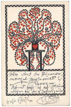 Postcard from Gustav Klimt to Emilie Flöge.
