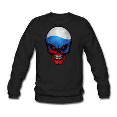 """RUSSIA SKULL RUSSLAND TOTENKOPF"" AllroundDesigns Sweatshirts, Hoodies, T-Shirts, Tanktops uvm. PATRIOT PATRIOTEN EUROPA EUROPE PATRIOTISM"