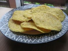 "CRISPY TACOS dehydrator recipe:  ""tortilla chips"" made with sweet corn & linseed."