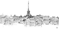 Avery Tillmon - Paris Skyline - Wall Mural & Photo Wallpaper - Photowall