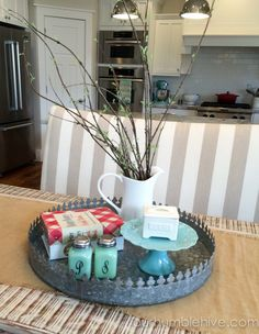 Seasonal Decor Updates Spring Kitchen. Everyday Table CenterpieceKitchen ...