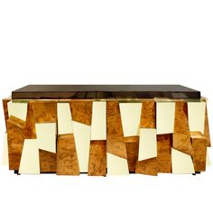 Paul Evans - Burl and Brass Credenza 1970s