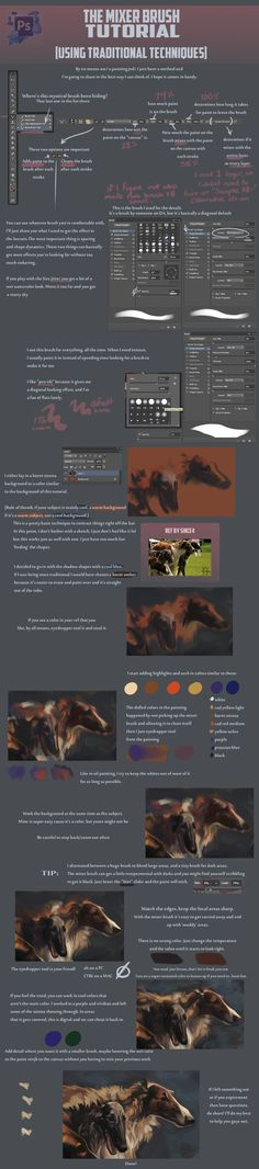 Mixer Brush Tutorial by =Blackpassion777 on deviantART
