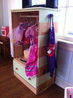 DIY, kids dress up closet - maybe slightly less pink :)