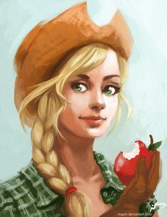 Applejack by Majoh.deviantart.com on @deviantART