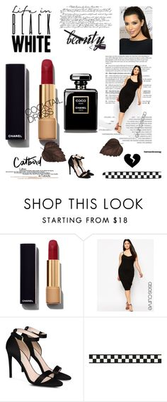 """little black dress"" by glam-and-curvy on Polyvore featuring moda, Chanel, ASOS Curve, STELLA McCARTNEY, black, LittleBlackDress i seebuywear"