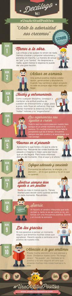 Decálogo actitud positiva #infografia