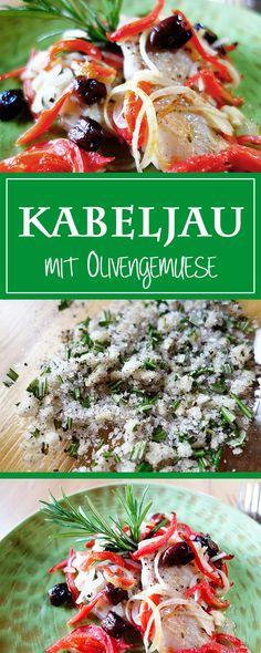 Kabeljau mit Oliven-Gemüse - ein leichtes, duftendes Sommer-Rezept: gesund, glutenfrei & fertig in weniger als 30 Minuten 🍽😋 | cucina-con-amore.de
