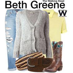 Inspired by Emily Kinney as Beth Greene on The Walking Dead. Add some dirt/wear & tear too
